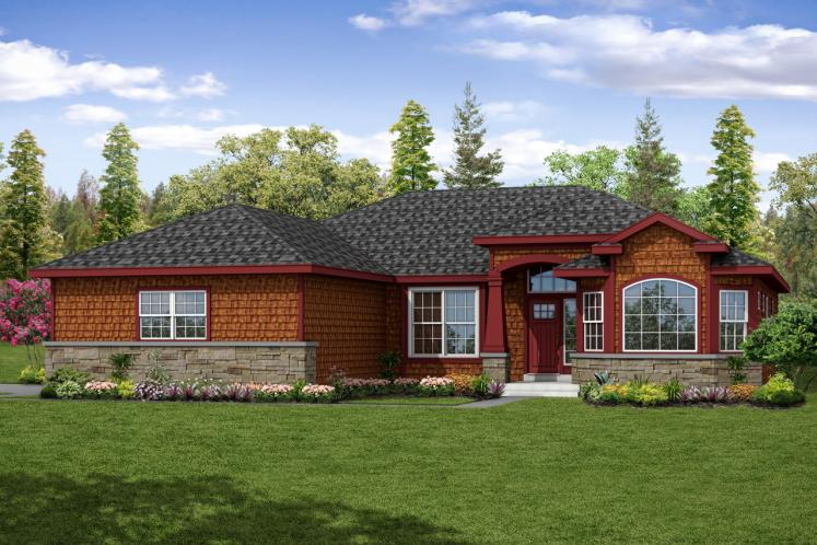 Cape Cod House Plan - Red Oak 77864 - Front Exterior