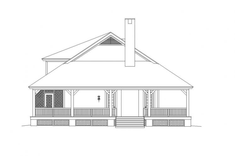 Country House Plan -  77929 - Left Exterior