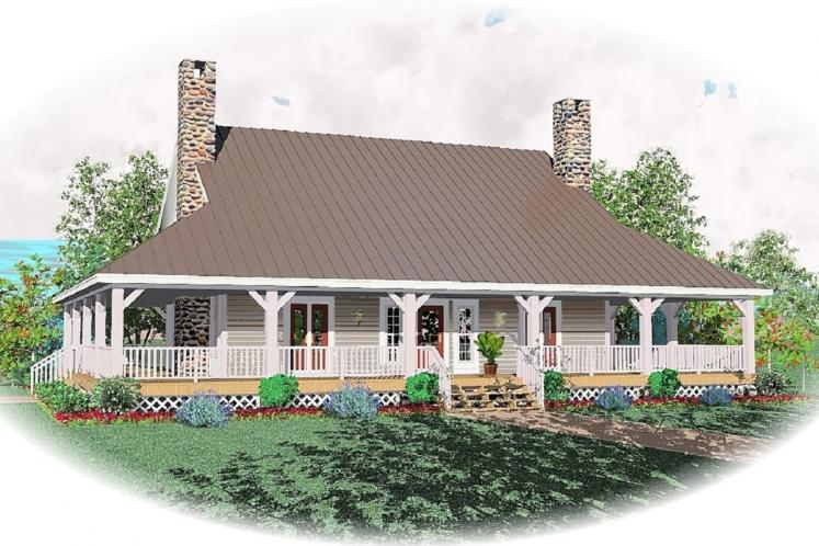 Country House Plan -  77929 - Front Exterior