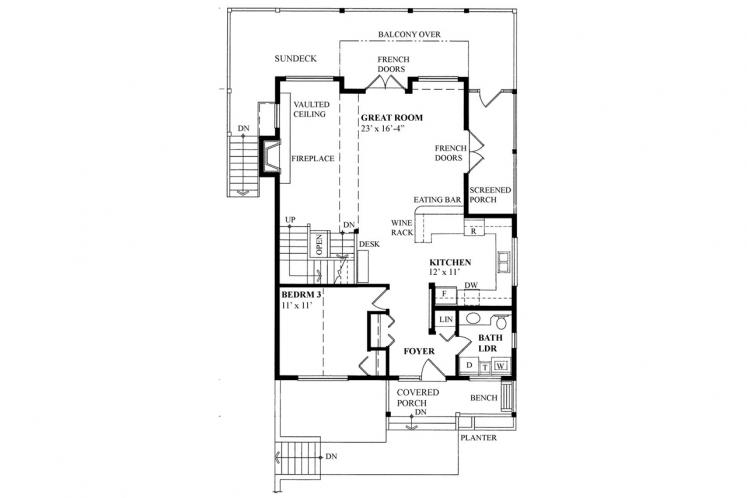 Cottage House Plan -  78081 - 1st Floor Plan