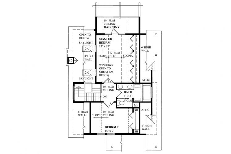 Craftsman House Plan -  78081 - 2nd Floor Plan