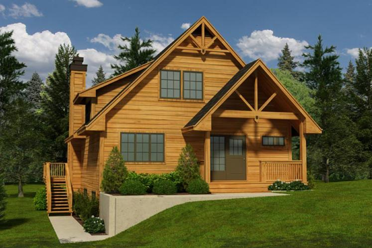 Craftsman House Plan -  78081 - Front Exterior