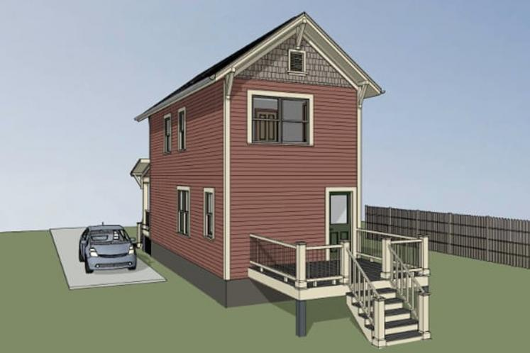 Country House Plan -  78126 - Right Exterior