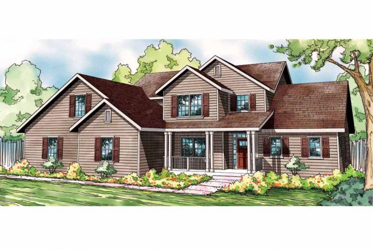 Country House Plan - Glendale 78141 - Front Exterior