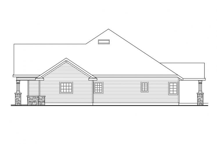 Country House Plan - Springheart 78149 - Right Exterior