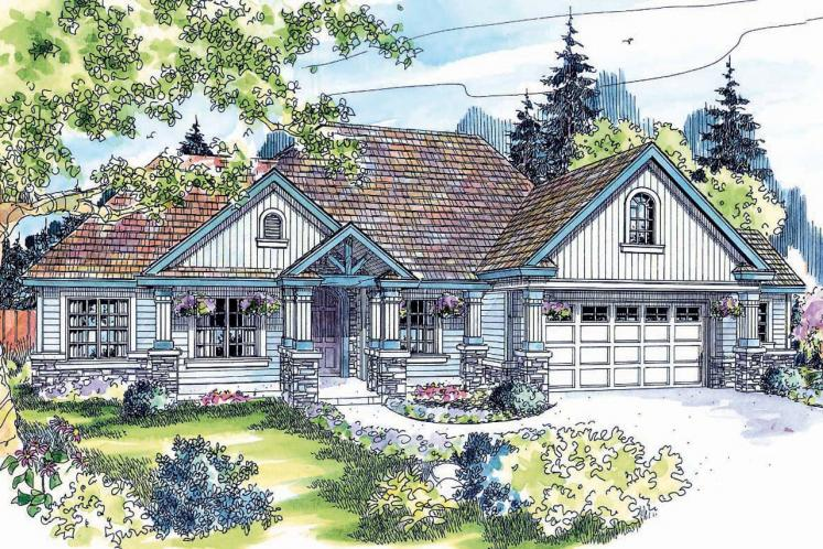 Country House Plan - Springheart 78149 - Front Exterior