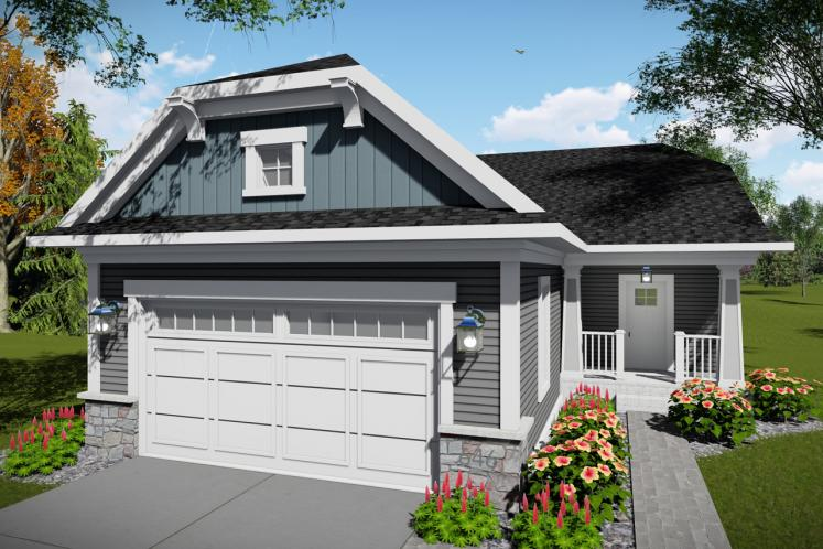 Bungalow House Plan -  78158 - Front Exterior