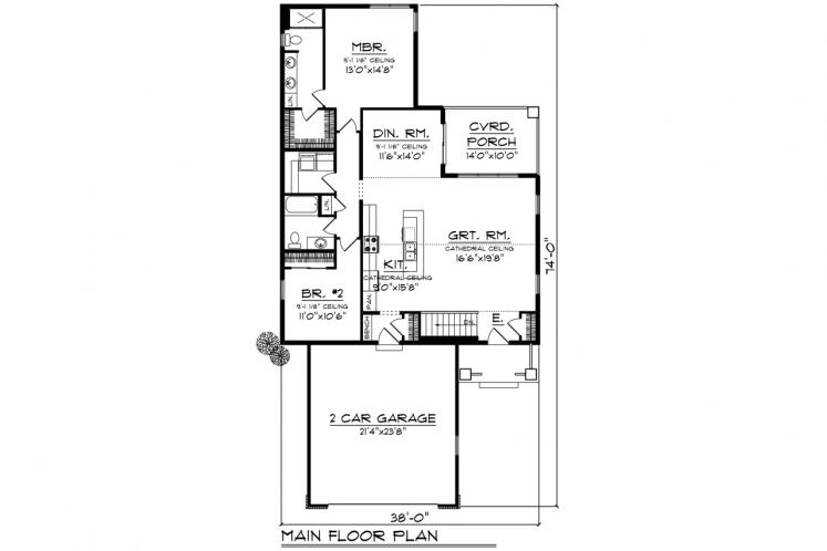 Craftsman House Plan -  78158 - 1st Floor Plan