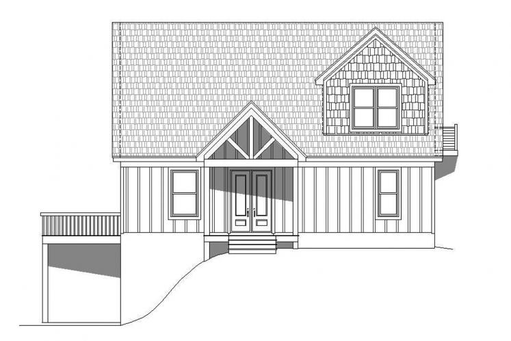 Lodge Style House Plan - Pine Haven II 78165