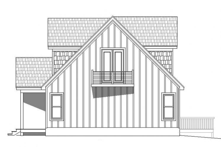 Lodge Style House Plan - Pine Haven II 78165 - Right Exterior