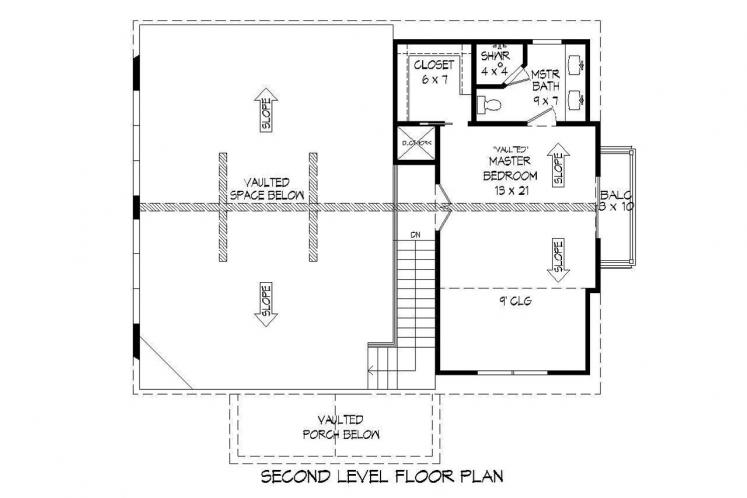 Lodge Style House Plan - Pine Haven II 78165 - 2nd Floor Plan