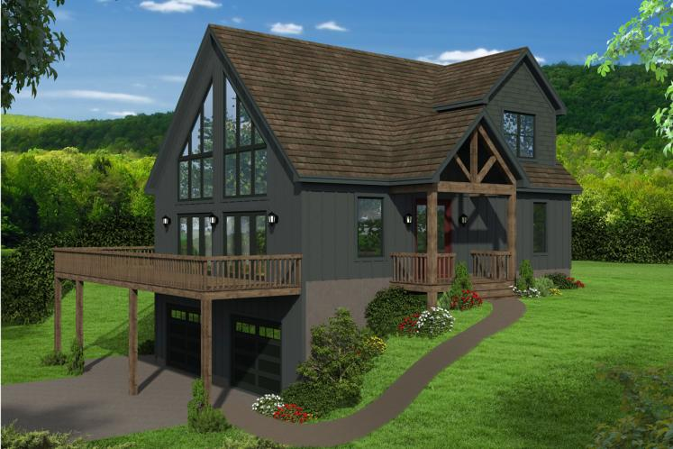 Lodge Style House Plan - Pine Haven II 78165 - Front Exterior