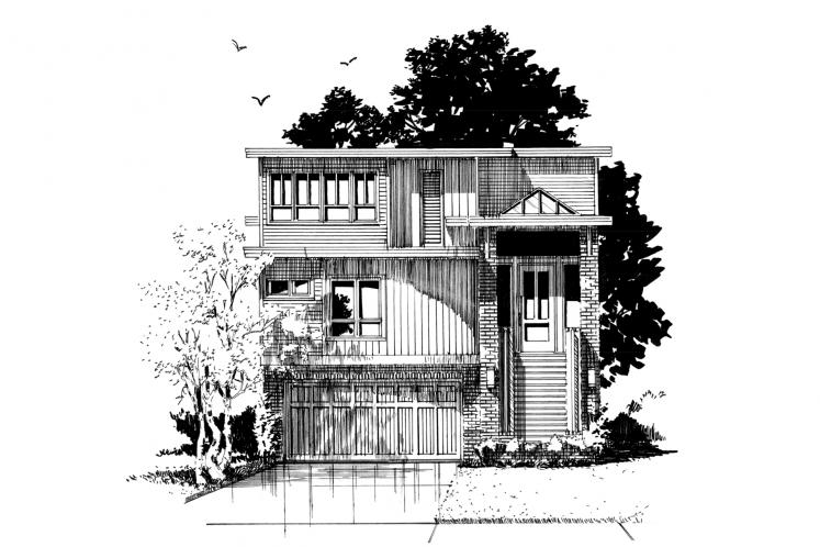 Contemporary House Plan - Highlands 78221 - Front Exterior