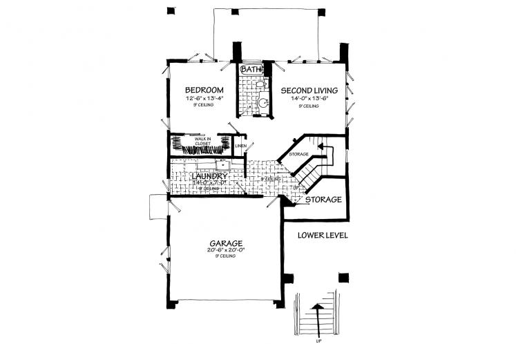 Contemporary House Plan - Highlands 78221 - Basement Floor Plan