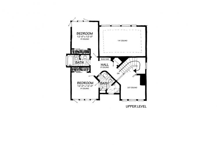 Contemporary House Plan - Highlands 78221 - 2nd Floor Plan