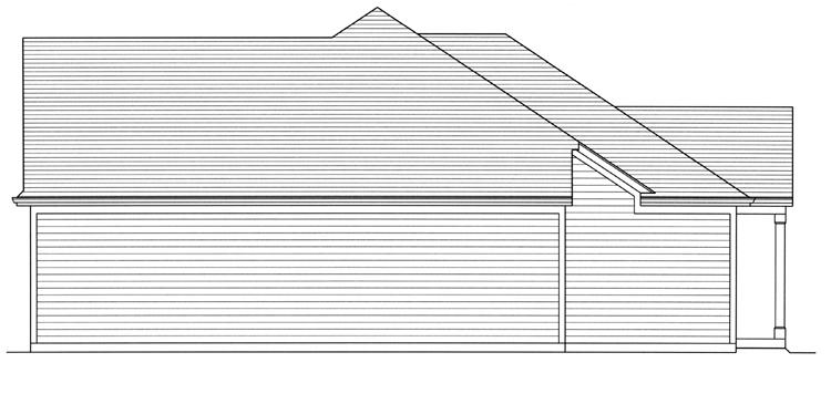 Cottage House Plan - Garden View 78224 - Right Exterior