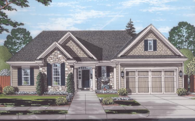 Cottage House Plan - Garden View 78224 - Front Exterior