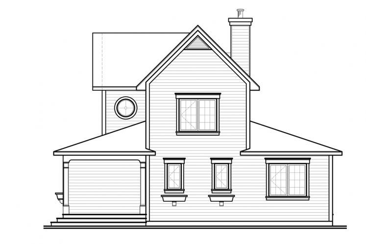 Country House Plan - Edgewater 78239 - Rear Exterior