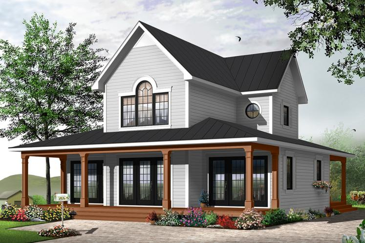 Cottage House Plan - Edgewater 78239 - Front Exterior
