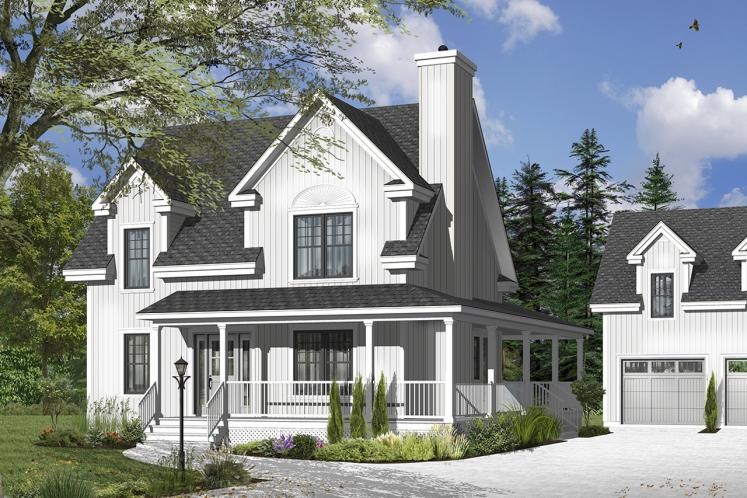 Country House Plan - Cloverdale 2 78315 - Front Exterior
