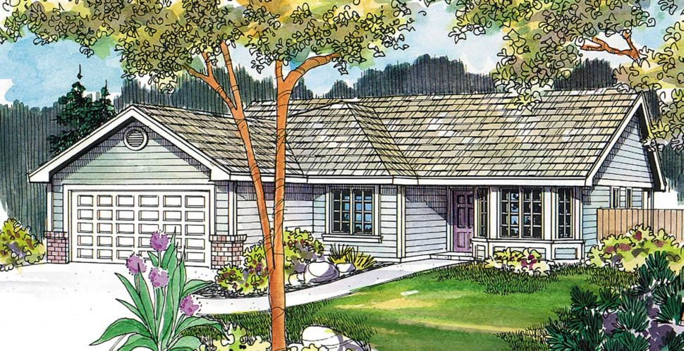 Ranch House Plan - Emory 78322 - Front Exterior
