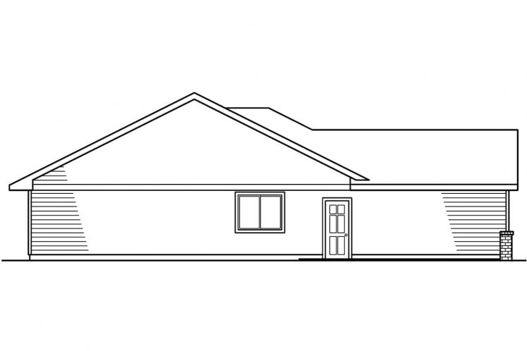 Ranch House Plan - Emory 78322 - Left Exterior