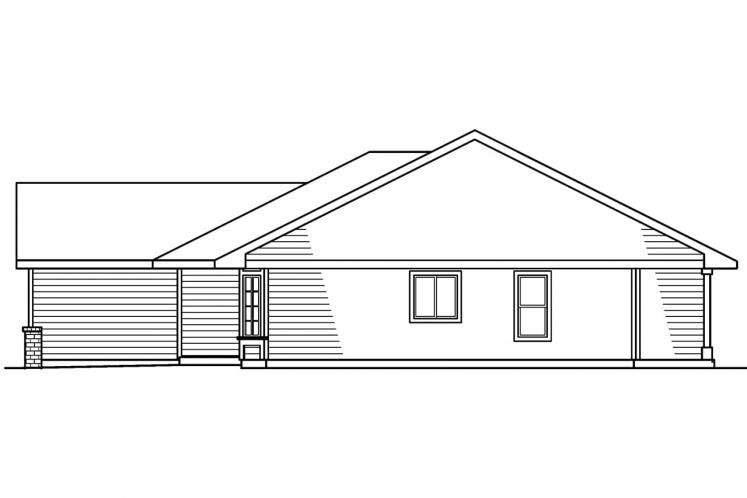 Traditional House Plan - Emory 78322 - Right Exterior