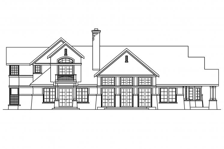 Craftsman House Plan - Everheart 78331 - Rear Exterior