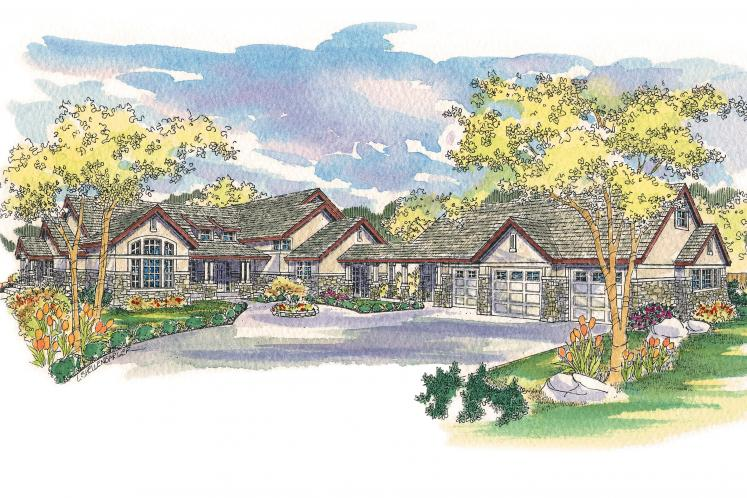 Lodge Style House Plan - Everheart 78331 - Front Exterior