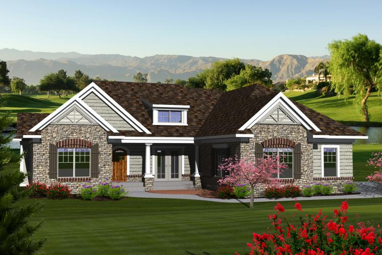 Classic House Plan -  78344 - Front Exterior