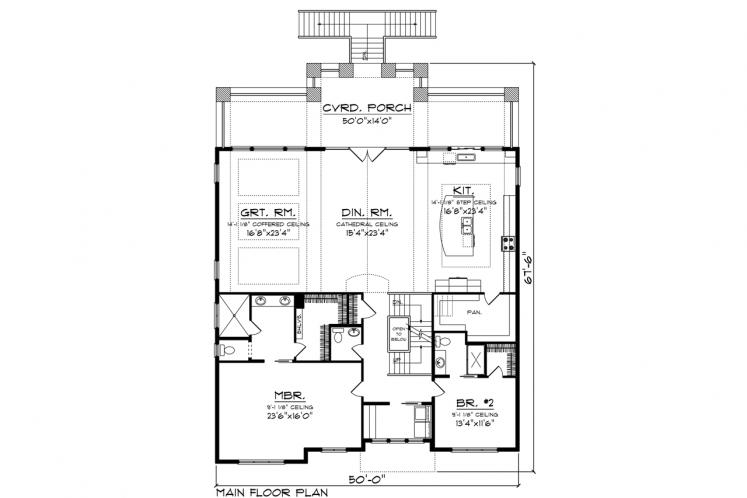 Bungalow House Plan -  78348 - 2nd Floor Plan