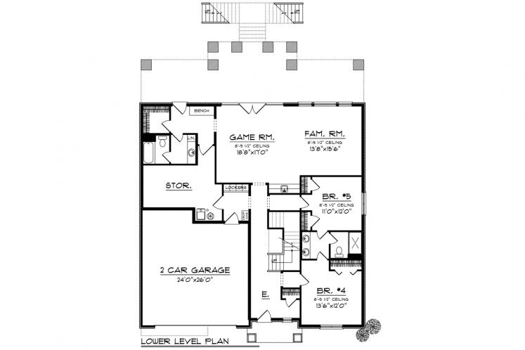 Craftsman House Plan -  78348 - 1st Floor Plan