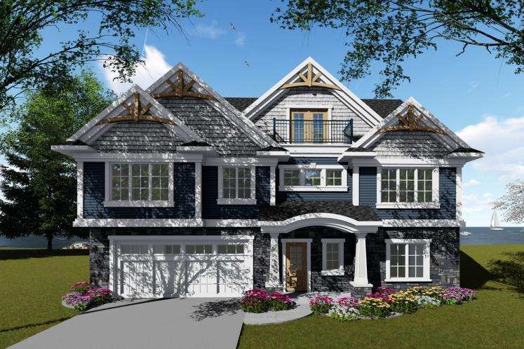 Craftsman House Plan -  78348 - Front Exterior