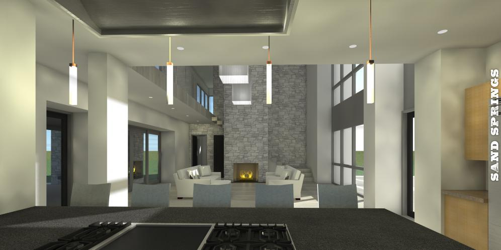 Contemporary House Plan - Sand Springs 78388 - Great Room