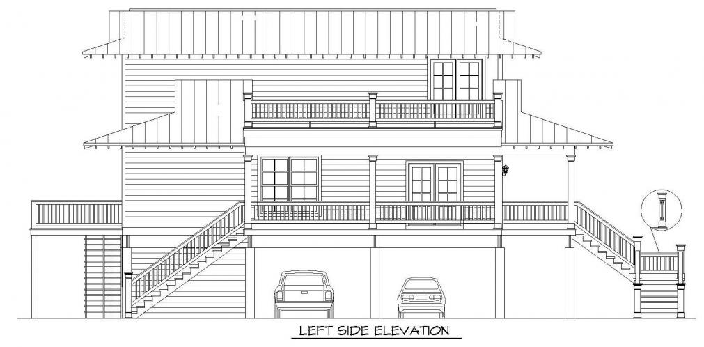 Southern House Plan -  78473 - Left Exterior