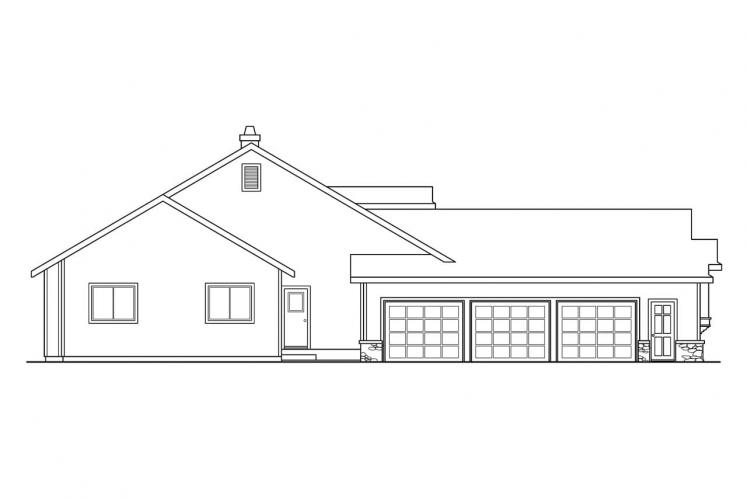 Craftsman House Plan - Cameron 78521 - Left Exterior