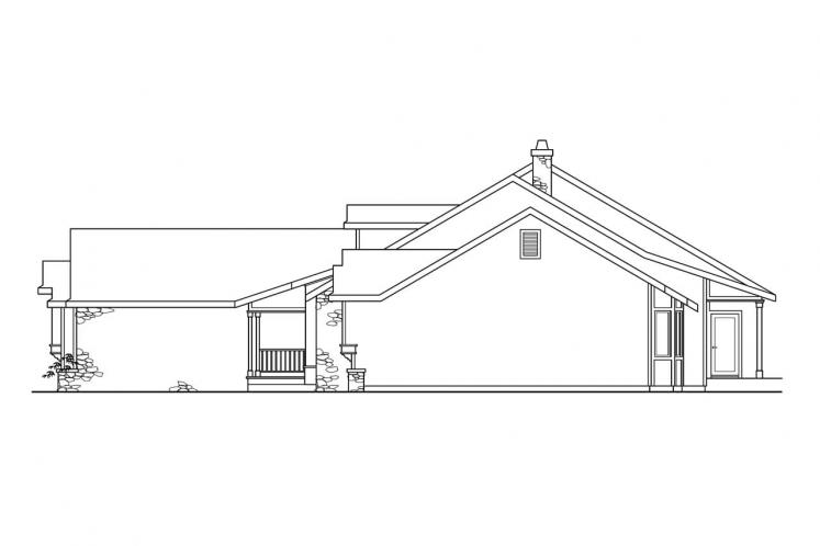 Ranch House Plan - Cameron 78521 - Right Exterior