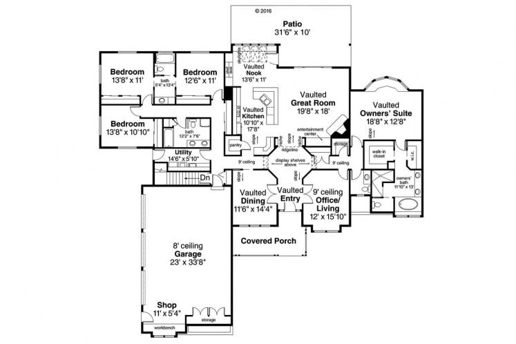 Country House Plan - Cameron 78521 - 1st Floor Plan