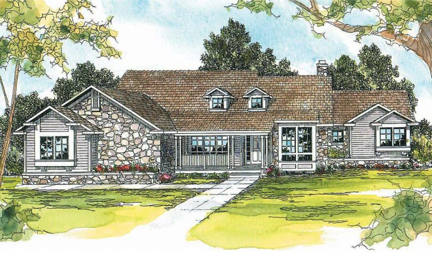 Ranch House Plan - Cameron 78521 - Front Exterior