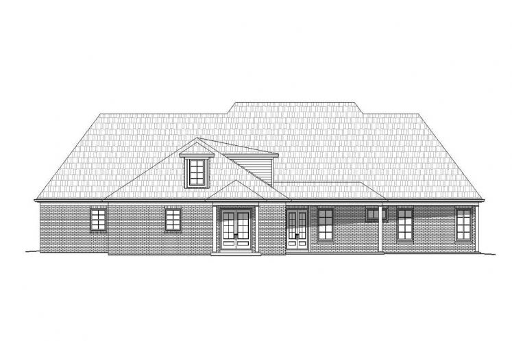 Classic House Plan -  78578 - Rear Exterior