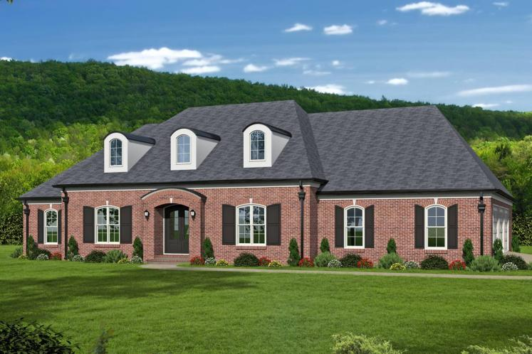 Colonial House Plan -  78578 - Front Exterior