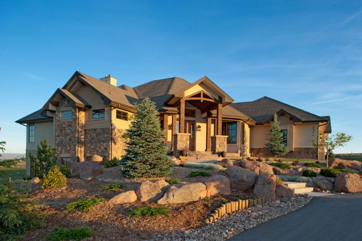Lodge Style House Plan - Meeker 78631 - Left Exterior