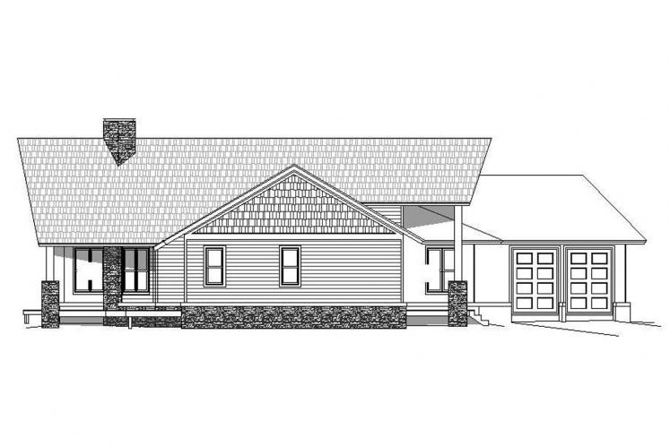 Lodge Style House Plan -  78645 - Left Exterior