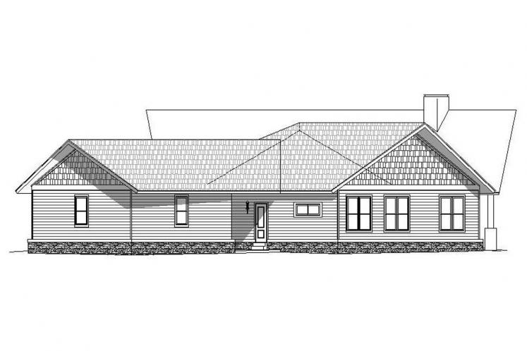 Craftsman House Plan -  78645 - Right Exterior