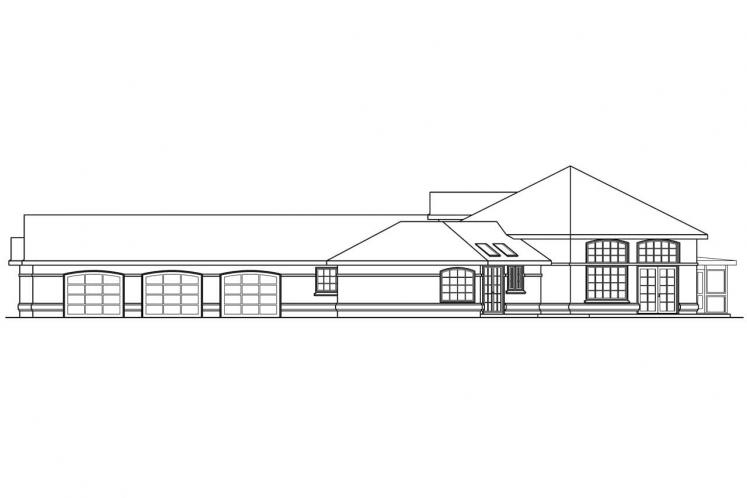 Southern House Plan - Beckwith 78663 - Right Exterior