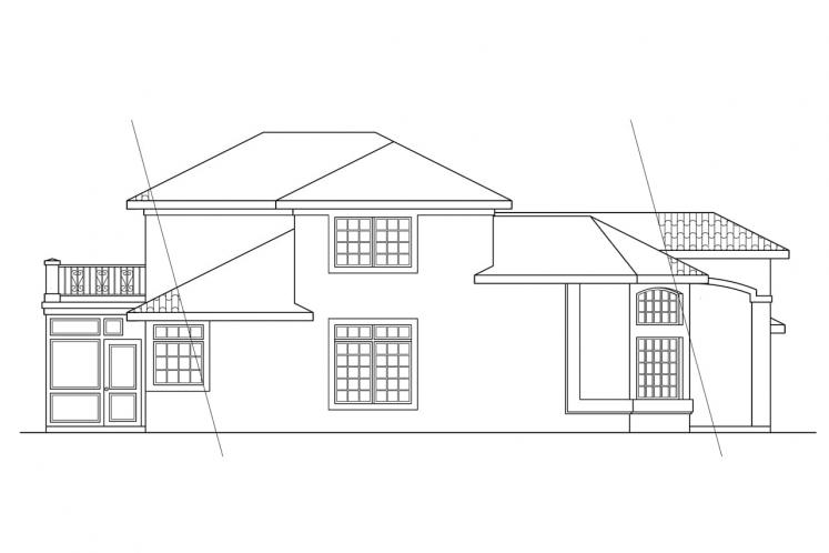 Spanish House Plan - Warrington 78716 - Left Exterior