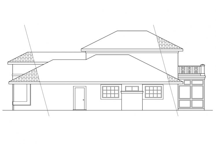 Southwest House Plan - Warrington 78716 - Right Exterior
