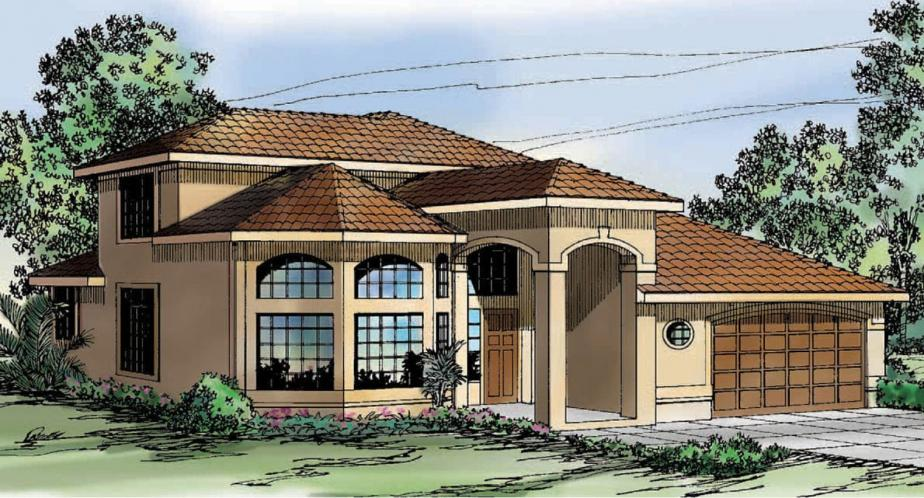 Southwest House Plan - Warrington 78716 - Front Exterior