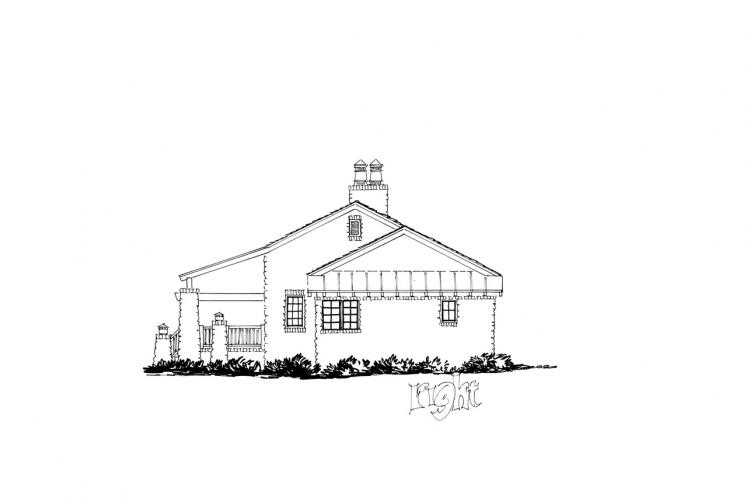 Country House Plan - Stonehaus 78743 - Right Exterior