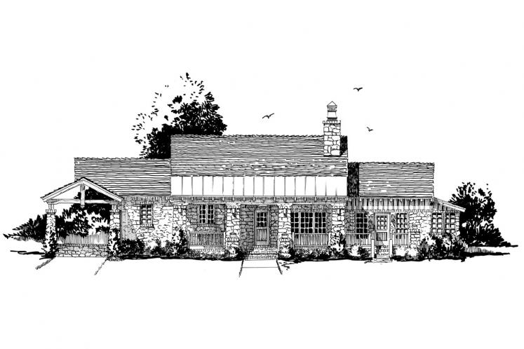 Country House Plan - Stonehaus 78743 - Front Exterior
